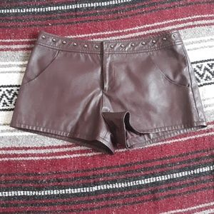 Forever 21 fox leather shorts